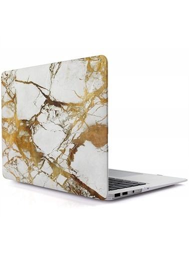 "Mcstorey MacBook Retina A1502 A1425 13"" 13.3"" Kılıf Sert Kapak Koruma Hard Incase Mermer Taş"